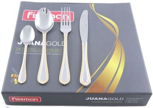 Набор столовых приборов Fissman Juana gold золотистый 24 пр. (нерж. сталь) 3187 (1)