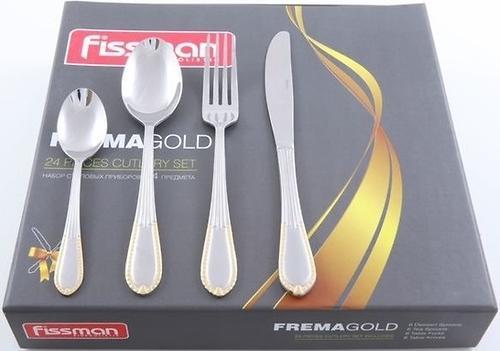 Набор столовых приборов Fissman Frema gold золотистый 24 пр. (нерж. сталь) 3189 (1)