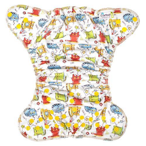 Многоразовый подгузник GlorYes! для плавания Котята 3-18 кг (9)