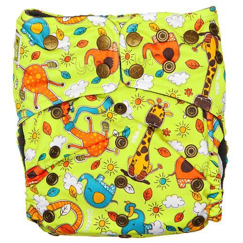 Многоразовый подгузник GlorYes! Premium Жирафы 3-18 кг + 2 вкладыша (12)