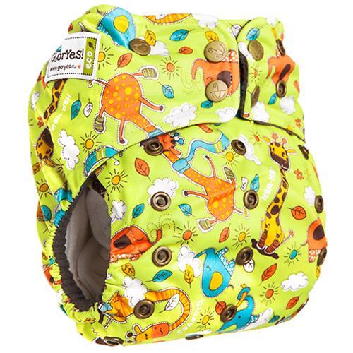 Многоразовый подгузник GlorYes! Premium Жирафы 3-18 кг + 2 вкладыша (13)