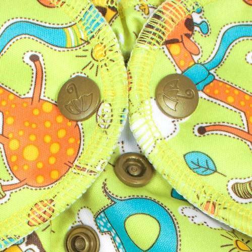 Многоразовый подгузник GlorYes! Premium Жирафы 3-18 кг + 2 вкладыша (14)
