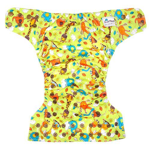 Многоразовый подгузник GlorYes! Premium Жирафы 3-18 кг + 2 вкладыша (15)
