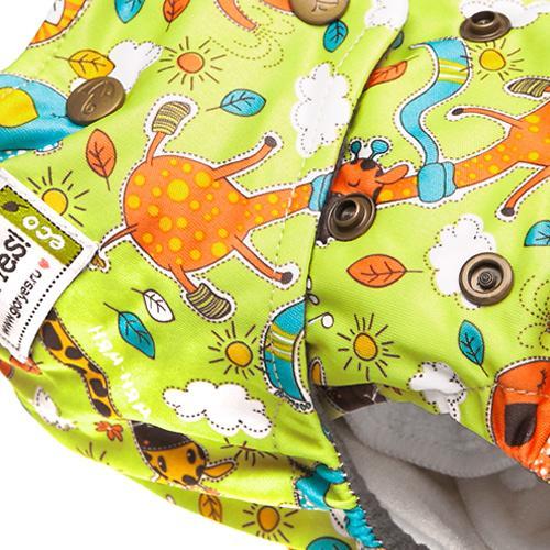 Многоразовый подгузник GlorYes! Premium Жирафы 3-18 кг + 2 вкладыша (16)