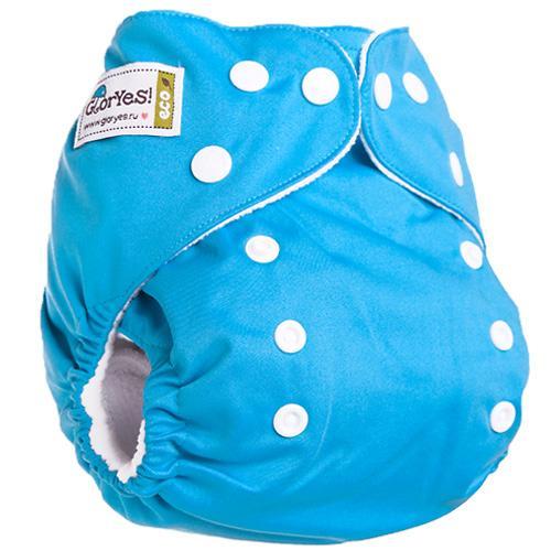Многоразовый подгузник GlorYes! Classic Синий 3-15 кг + 1 вкладыш (7)