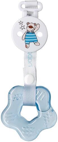 Прорезыватель силиконовый с водой Happy Baby Teether gel+ Blue (3)