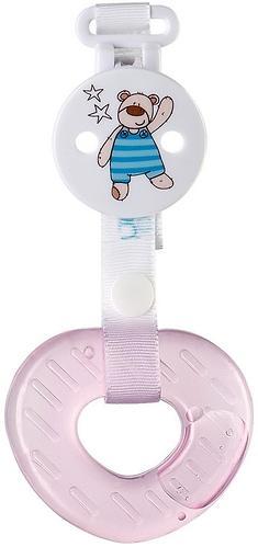 Прорезыватель силиконовый с водой Happy Baby Teether gel+ Pink (3)