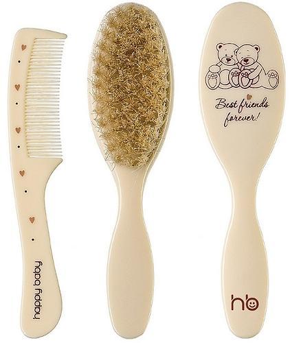 Щетка Happy Baby с натуральным мягким ворсом и расческа для волос Hair care (4)