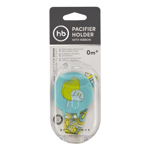 Держатель Happy Baby для пустышки Pacifier Holder With Ribbon Blue (4)