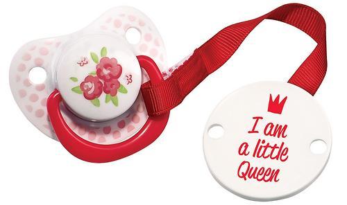 Пустышка с холдером Happy baby Little Queen Pink (3)