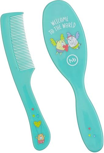 Набор щеток для волос Happy Baby Brush Comb Set Mint (4)