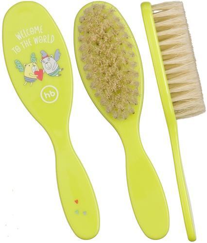 Набор щеток для волос Happy Baby Brush Сomb Set Lime (5)