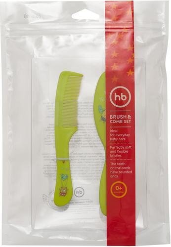 Набор щеток для волос Happy Baby Brush Сomb Set Lime (6)