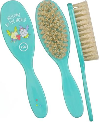 Набор щеток для волос Happy Baby Brush Comb Set Mint (5)
