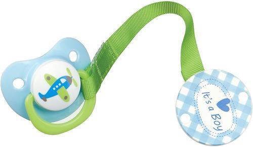 Пустышка c держателем Happy Baby Bimbo blue (1)