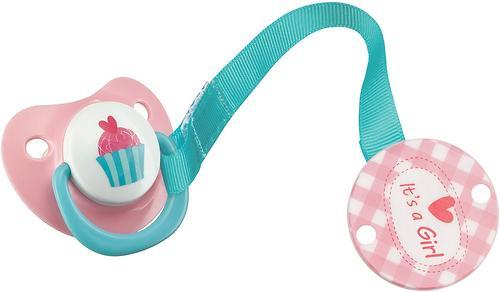 Пустышка c держателем Happy Baby Bimbo Pink (1)