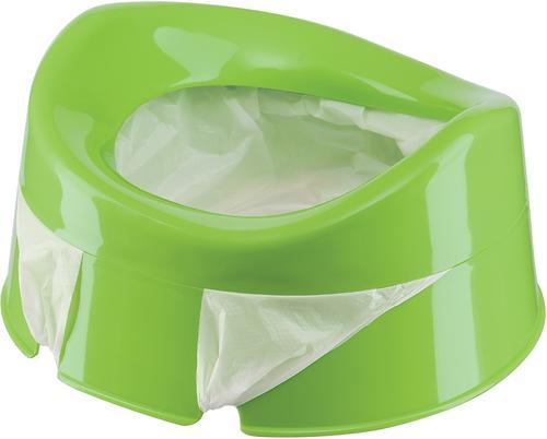 Горшок дорожный Happy Baby с набором одноразовых пакетов Mini Potty green (4)