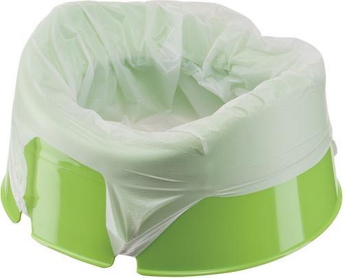 Горшок дорожный Happy Baby с набором одноразовых пакетов Mini Potty green (5)