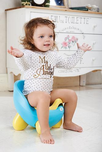 Горшок детский Happy Baby Ergo Potty Blue (4)