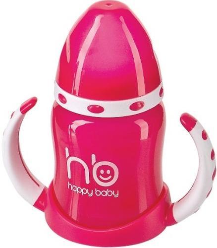 Поильник Happy Baby с двумя тренировочными клапанами Feeding Cup Red (3)
