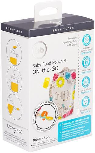 Пакеты многоразовые Happy Baby для хранения детского питания (6)