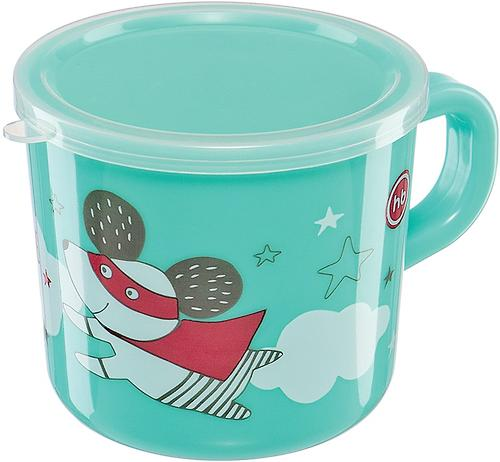 Кружка с ручкой и крышкой Happy Baby Training Cup Mint (4)