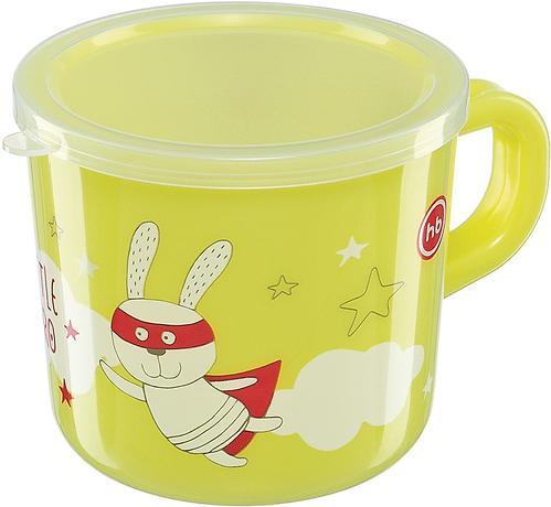 Кружка с ручкой и крышкой Happy Baby Training Cup Lime (4)