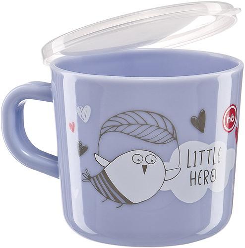Кружка с ручкой и крышкой Happy Baby Training Cup Lilac (5)