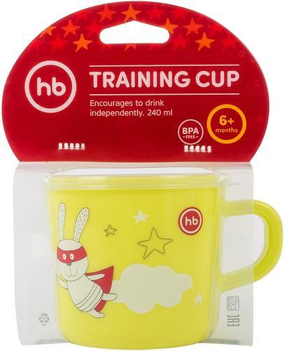 Кружка с ручкой и крышкой Happy Baby Training Cup Lime (6)