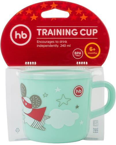 Кружка с ручкой и крышкой Happy Baby Training Cup Mint (6)