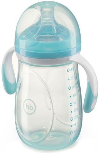 Бутылочка Happy Baby антиколиковая Baby Bottle 300 мл Голубая (5)
