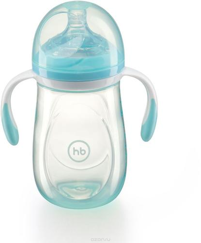 Бутылочка Happy Baby антиколиковая Baby Bottle 300 мл Голубая (6)
