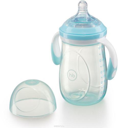 Бутылочка Happy Baby антиколиковая Baby Bottle 300 мл Голубая (7)
