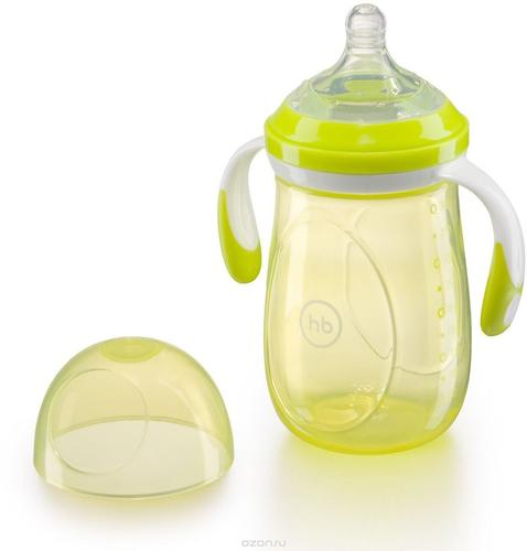 Бутылочка Happy Baby антиколиковая Baby Bottle 300 мл Салатовая (7)