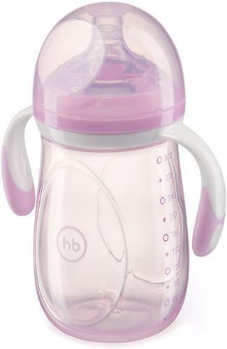 Бутылочка Happy Baby антиколиковая Baby Bottle 300 мл Фиолетовая (5)