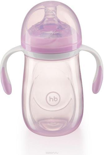 Бутылочка Happy Baby антиколиковая Baby Bottle 300 мл Фиолетовая (6)