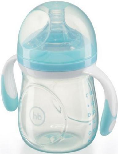 Бутылочка Happy Baby антиколиковая Baby Bottle 180 мл Голубая (4)