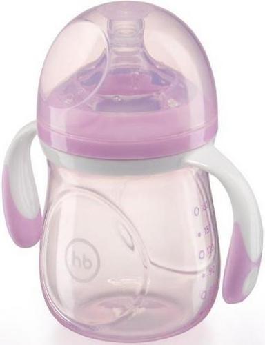 Бутылочка Happy Baby антиколиковая Baby Bottle 180 мл Фиолетовая (3)