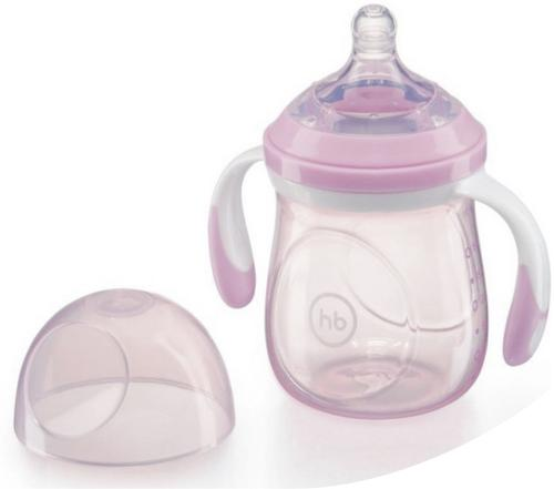 Бутылочка Happy Baby антиколиковая Baby Bottle 180 мл Фиолетовая (5)