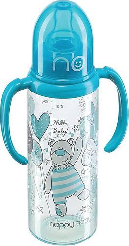 Бутылочка для кормления Happy Baby 250 мл, две силиконовые соски Aqua (1)