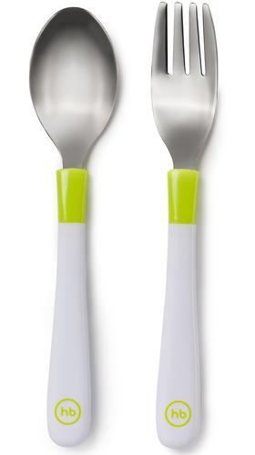 Набор столовых приборов Happy Baby Spoon and Fork Baby Cutlery Set Lime (4)