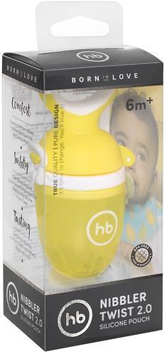 Ниблер Happy Baby силиконовый для пюре Nibbler Twist Yellow (7)