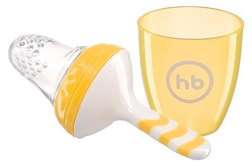 Ниблер с силиконовой сеточкой Happy Baby Nibbler With Silicone Poucn Yellow 15047 (4)