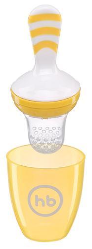 Ниблер с силиконовой сеточкой Happy Baby Nibbler With Silicone Poucn Yellow 15047 (6)