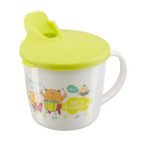 Тренировочная кружка Happy Baby Training cup с Салатовой крышкой (8)