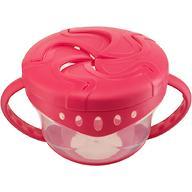 Тарелка с двумя крышками Happy Baby Snack Bowl Red
