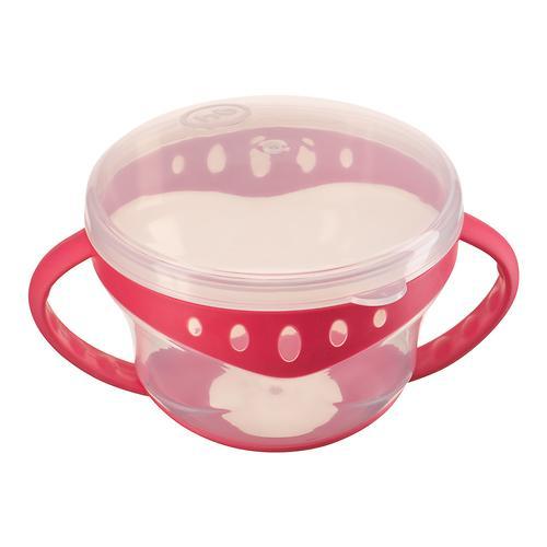 Тарелка с двумя крышками Happy Baby Snack Bowl Red (7)