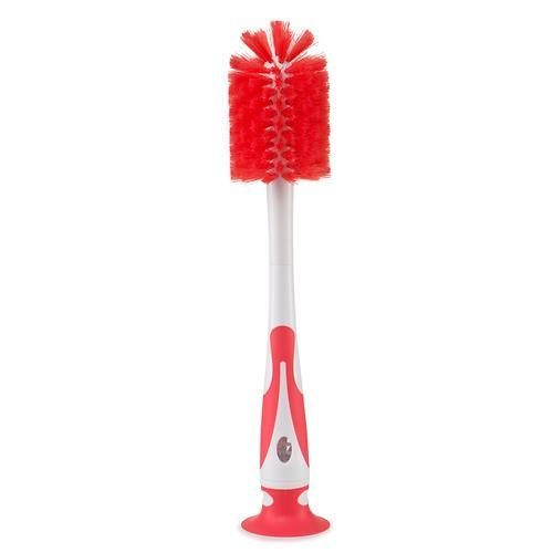 Набор ёршиков для бутылочек и сосок Happy Baby Bottle & Nipple Brush 2 in 1 Red (8)