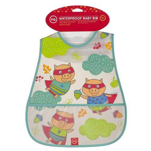 Нагрудник Happy Baby на липучке Waterproof Baby Bib Mint Pigs (4)