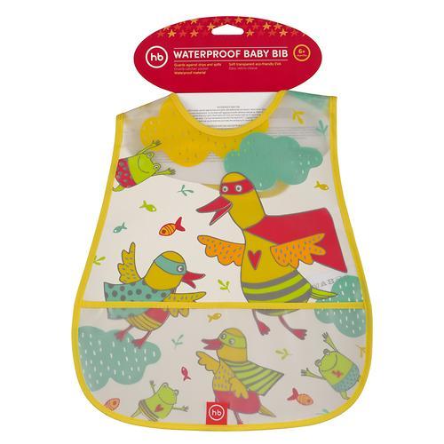 Нагрудник Happy Baby на липучке Waterproof Baby Bib Yellow Duck (4)